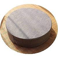 クッション丸い畳綿のリネンアート布団和式洗濯クッション瞑想ヨガマット,灰色,直径50cm厚6cm