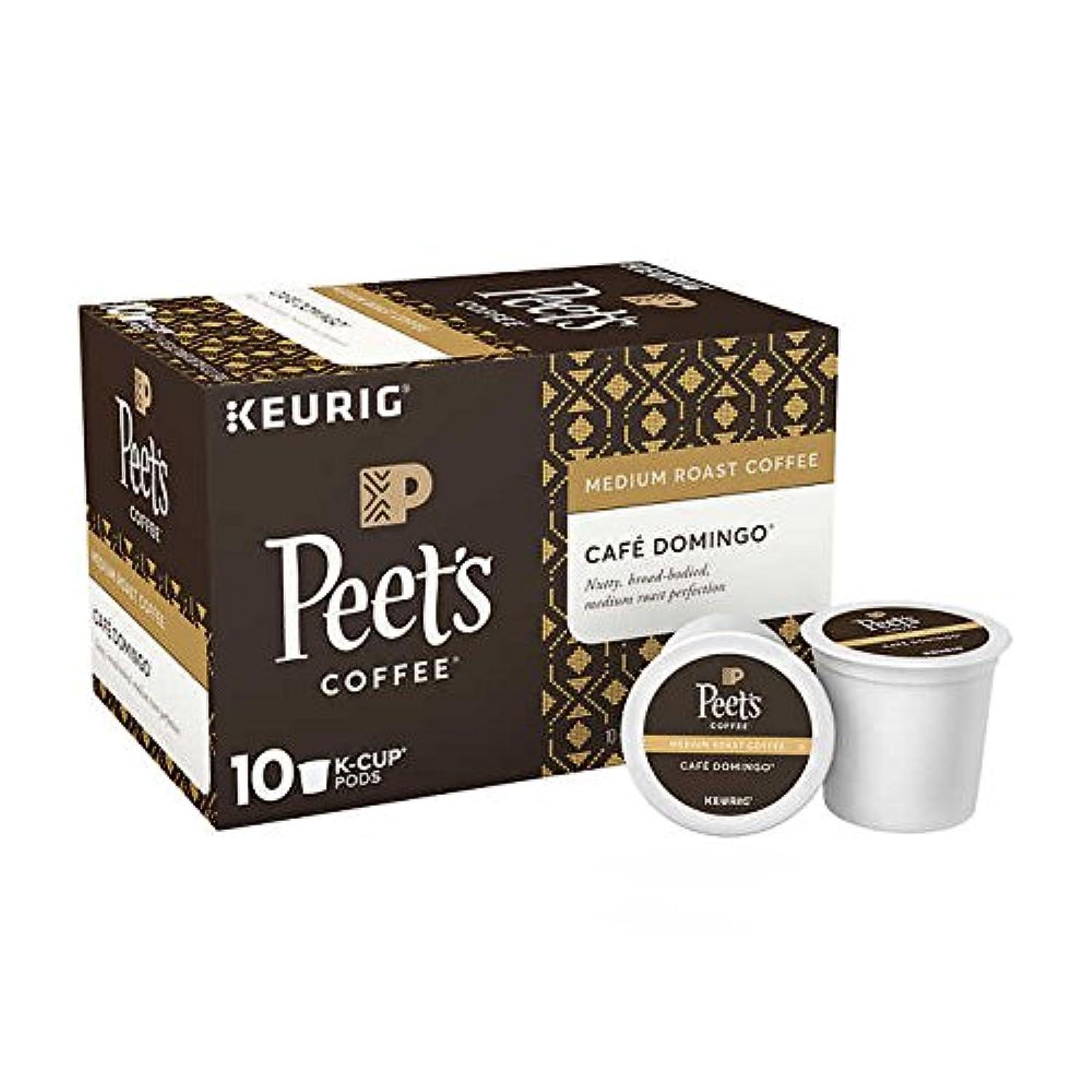 Peet's Coffee Café Domingo K-Cup ピートコーヒー ビッグバンブレンド Kカップポッド60杯分 [並行輸入品]