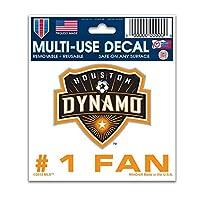 WinCraft サッカー ヒューストン・ダイナモ 91670012 多目的デカール 3インチ x 4インチ
