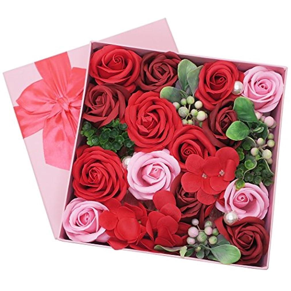 任命する脇に石ポピー名古屋(Poppy Nagoya) 造花 レッド 20×20×9cm