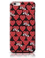 【ルイレイ】 LUILEI iPhone 全機種対応 galaxy MD恥ずかしい吸血鬼ハートレッドのハードケース N.1586 (iPhone 8, Color) [並行輸入品]