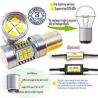 Wiseshine baw15d led 電球 DC9-30v 3年間の品質保証(2パック) baw15d 22smd 3030 黄