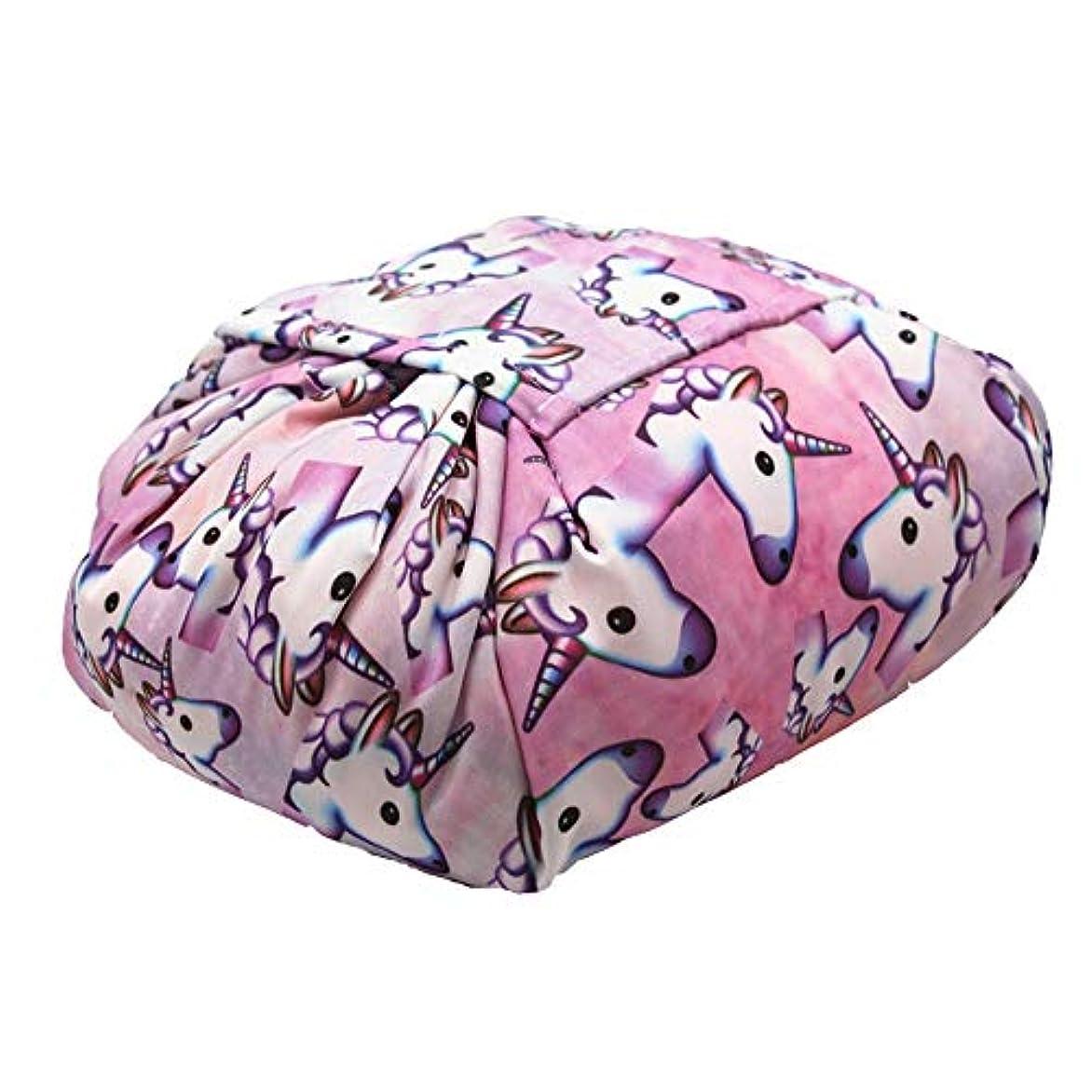 演じる不安時化粧オーガナイザーバッグ ポータブル巾着収納バッグ用化粧品化粧ブラシプロの旅行化粧バッグ旅行アクセサリー大容量防水ウォッシュバッグ 化粧品ケース (色 : C3, サイズ : 62x54x2cm)