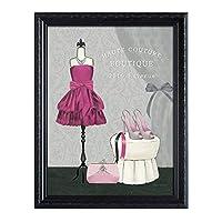 壁の装飾ヨーロッパレトロ服ショップ装飾無垢材のリビングルームの寝室の絵画装飾的な絵画ポスター (色 : P, サイズ さいず : 47*60cm)