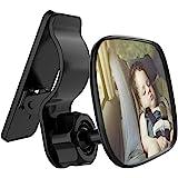 Automotive Interior Rearview Baby Mirror - Car Small Clip-On Adjustable Facing Back Rear View Seat Convex Mirror Clip on Car
