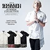 (ゼファレン)ZEPHYREN SWITCHING LONG SHIRT S/S -Resolve- zephyren WHITE-CHECK M
