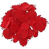 Baosity 約100個 ミニ ビー 蜂 ハチ アップリケ 紙吹雪 ナイロン製 おもちゃ お祝い DIY 装飾 4色選べる  - 赤