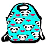 IACC お弁当 Sweet Insulated Lunch Bag Tote Reusable Waterproof School Picnic Carrying Gourmet Lunchbox Container Organizer - Pandas Pattern