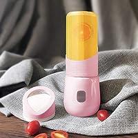 パーソナルUSBジューサーカップ、自動パワーオフ機能付き多機能フルーツベビーフードブレンダー、ポータブルミュート、軽くてパワフルで手入れが簡単,Pink