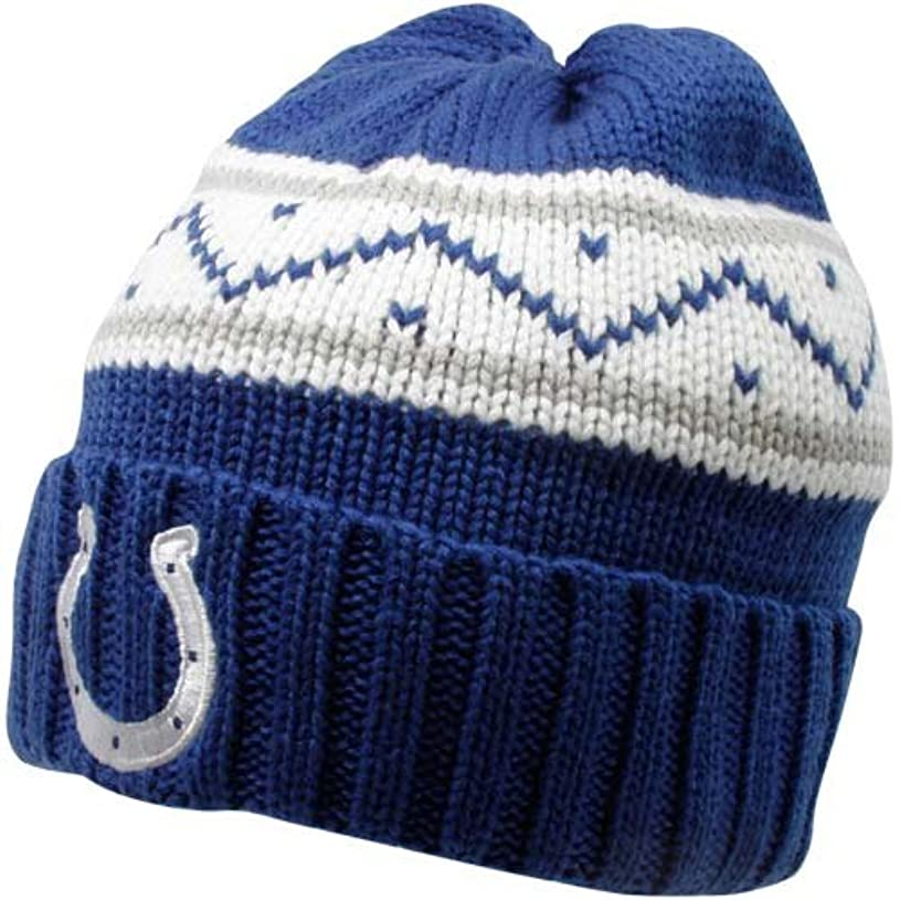 グラフ故意のむしゃむしゃリーボックIndianapolis Colts Cuffedニット帽子フリーサイズ