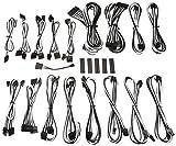 BitFenix ALCHEMY 2.0 PSU CABLE KIT for Corsair Power Supply AXi/HXi/HXRM/Rmi/RMx/CS-M/TX-M/CX-M for BitFenix Power Supply Whisper M CSR-SERIES - Black/White (BFX-ALC-CSRKW-RP) [並行輸入品]