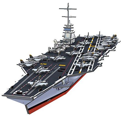(トップレース) Top Race® 3Dパズル、ジェラルド・R・フォード航空母艦のパズル、のり はさみ不要、組み立て簡単(99ピース)