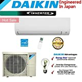 Daikin 9,000 BTU 24.5 SEER Ductless Mini Split Air Conditioner 2015 / High Efficiency / High Energy Saving / High Seer Inverter Air Conditioner Heating, Cooling, Dehumidification, Ventilation 0.75 TON by Daikin