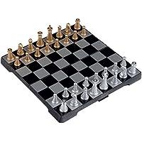 Kobwa(TM) UB 6.3inch Travel Magnetic Chess Mini Set(Black and White) with Kobwa's Keyring