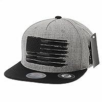 WITHMOONS野球帽キャップベースボールキャップ スターアンド ストライプス アメリカン フラグハット ユーエセーフラグハットKR2773(Grey-XL)