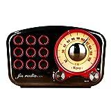 ワイヤレスWi-Fiスマートスピーカー FMラジオ付きワイヤレスステレオレトロスピーカーブルートゥーススピーカーラジオミニポータブルブルートゥースヴィンテージスピーカーブルートゥース4.2 TFカードポートと3.5 mmオーディオ入力ジャックメタル 大音量クリスタルクリアステレオサウンド