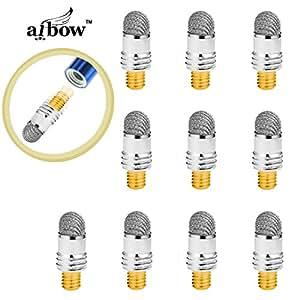 aibow タッチペン スマートフォン タブレット スタイラスペン iPad iPhone Android 交換用ペン先10個 6mm