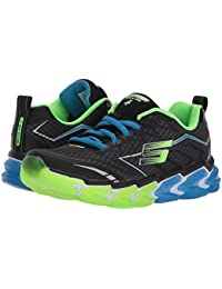 [SKECHERS(スケッチャーズ)] キッズスニーカー?靴 Skech - Air 4 97725L (Little Kid/Big Kid) Black/Blue/Lime 12 Little Kid (18.5cm) M