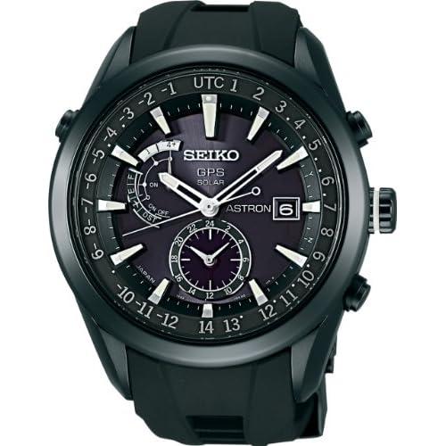 [セイコー]SEIKO 腕時計 SEIKO ASTRON アストロン ソーラー GPS 衛星電波修正 ステンレススチール 強化シリコンバンド 黒×白ダイヤル サファイアガラス スーパークリアコーティング 日常生活用強化防水 (10気圧防水) SBXA011 メンズ