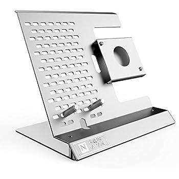 NBROS [ SmartStationシリーズ ] iPhone / Apple Watch (42/38mmモデル対応) スタンド [ シルバー ] NB-AW001WPS