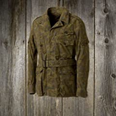 Sage de Cret Dyed Leaf Camouflage Field Jacket sdc3639: Beige