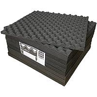 (ピコリコ) PicoRico 吸音 防音 ウレタンフォーム 波型 スポンジ ブラック 50cm × 50cm ×2.5cm 18枚 セット