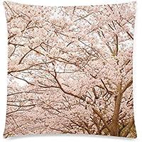 可愛い 子供 満開の桜の木々 座布団 45cm×45cm