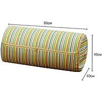 Sulida 円筒形 布団収納袋  掛け布団収納ケース 収納ボックス 多機能 民族の特徴 七色の虹柄