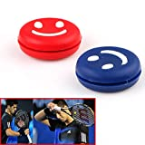Easy Raku® スポーツ用品 バトミントン テニスラケット振動止め 振動吸収 バイブレーションストッパー 5枚入 色がランダム発送