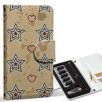 スマコレ ploom TECH プルームテック 専用 レザーケース 手帳型 タバコ ケース カバー 合皮 ケース カバー 収納 プルームケース デザイン 革 星 ハート 赤 青 010539