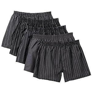 [セシール] パンツ 綿100% チェックトランクス(柄違い5枚組セット・前開き) S~5L AKT-317 メンズ BA 日本 L-(日本サイズL相当)