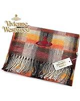 (ヴィヴィアン・ウエストウッド) Vivienne Westwood fp66-0006 レッド RED オーブロゴ入りマフラー 24s11-p66-0006 ヴィヴィアンマフラー