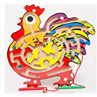 1 Pcs Parent-Child Interactive Games, Chicken Shape Magnetic Brush Maze,Attract Baby In The Maze Of Tunnels From Start To Finish,Classic Colorful Early Educational Baby Intelligence game toys by Update Everyday