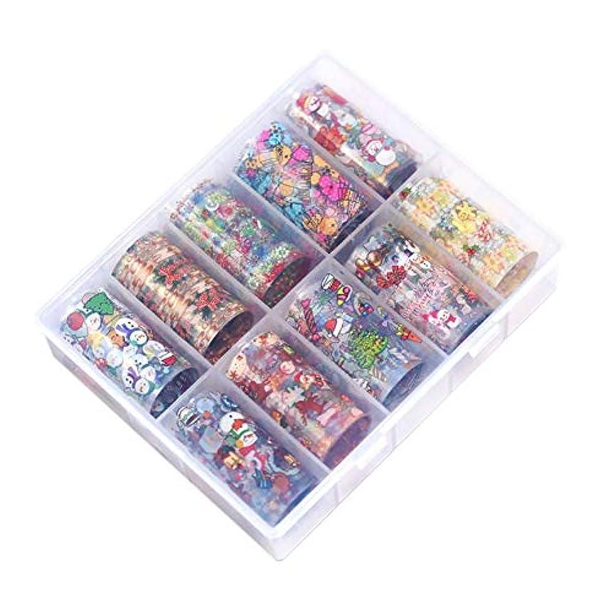 旧正月有能なマカダムACHICOO ネイルシール セット 10個 クリスマス 星空 粘着紙 ハロウィン デコレーション 可愛い オシャレ 01 クリスマス