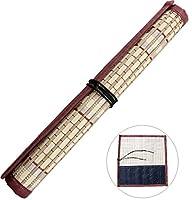 竹製 筆巻き ポケット付き 筆入れ 書道 習字 収納 保管 携帯便利