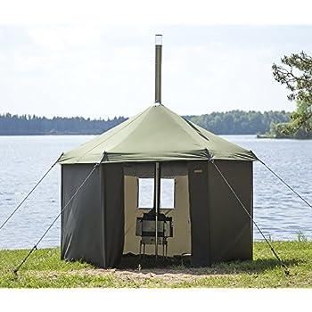<送料無料>テントサウナ ライトセット 4人用 サウナ専用テント 直径250cm 薪ストーブ サウナストーン アウトドアでサウナが楽しめる 持ち運び簡単 ロウリュ