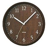 MAG(マグ) 掛け時計 アナログ アズサ 直径約25cm 連続秒針 ブラウン W-742BR-Z