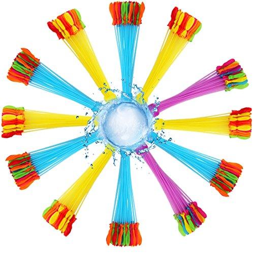 WTOR 水風船 444個(37個×12束)大量 水爆弾ボール 水遊び 子供 大人 おもちゃ ウォーターゲーム 水風船合戦 夏定番の遊び 子供のお誕生日プレゼント
