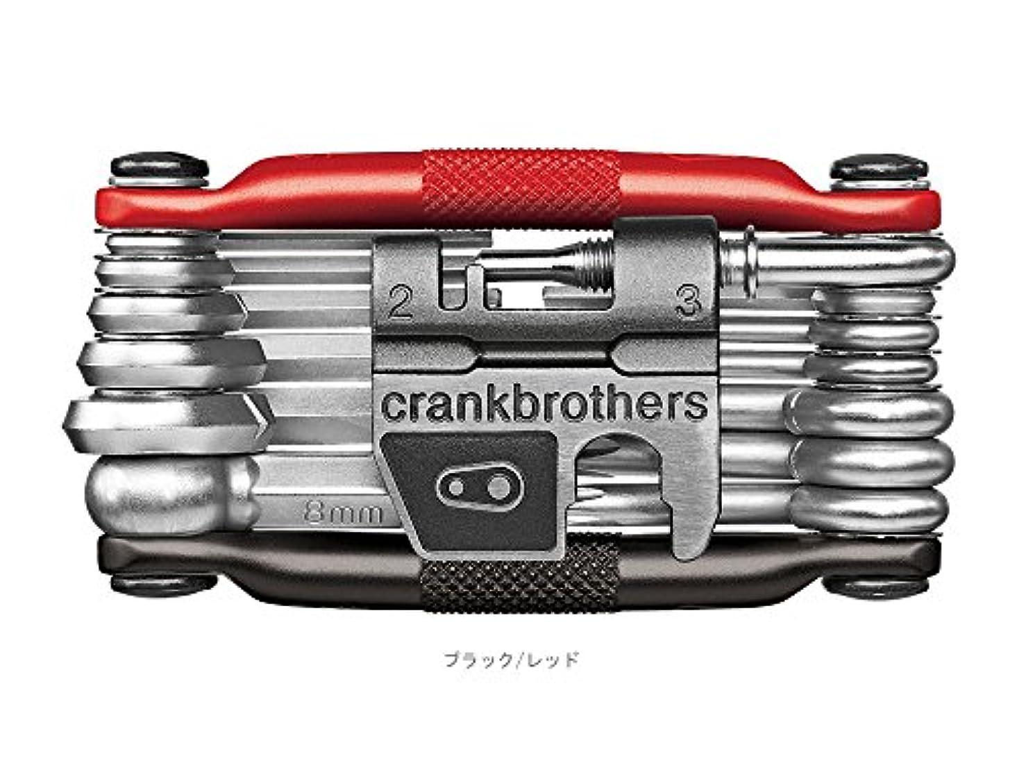 コックライドセクタCRANKBROTHERS(クランクブラザーズ) M19 (マルチ19) 携帯ツール ブラック/レッド