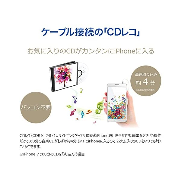 I-O DATA iPhone スマホ CD取...の紹介画像2