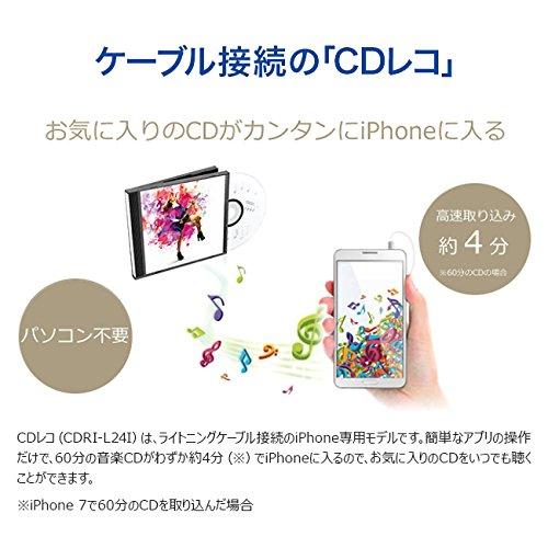 I-O DATA iPhone iPad iPod CD取込 iOS専用/Lightning接続 「CDレコ」 CDRI-L24I