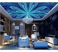 Weaeo 高品質の3Dの天井の壁紙をカスタマイズするパターン3Dの写真天井の壁画天井のキッチンの壁紙-400X280Cm