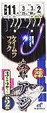 ハヤブサ(Hayabusa) 海戦アジ ケイムラフック 3本鈎2セット SE324 11-3-3