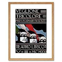 Ad Political Gala Dinner Fascist Soldier Italy Framed Wall Art Print 政治ファシスト兵士イタリア壁