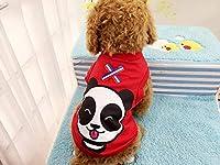 かわいい犬服ペットのベストコート春シャツ小型犬チワワXS-XXLためのソフトベストコスチューム子犬衣装犬の服を:レッドパンダ、XXL