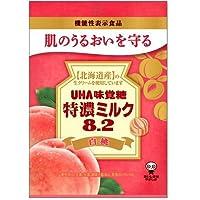 味覚糖 特濃ミルク 8.2 白桃 84g×4袋 [機能性表示食品]