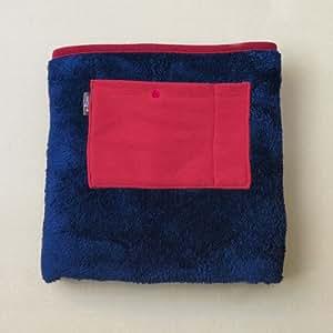もこもこ生地・オシャレでカラフルなUSBブランケット e-Kairo USB Blanket (ネイビー)