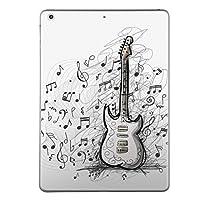iPad mini mini2 mini3 共通 スキンシール retina ディスプレイ apple アップル アイパッド ミニ A1432 A1454 A1455 A1489 A1490 A1491 A1599 A1600 タブレット tablet シール ステッカー ケース 保護シール 背面 人気 単品 おしゃれ 音楽 音符 ギター 011720