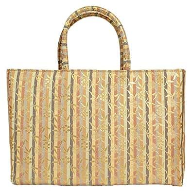 名物裂 金襴 02(C) 和装 和柄 着物 ( きもの / キモノ ) 用 フォーマル ( 礼装 ) バッグ かばん 日本製生地 | A4 OK | (C)