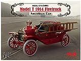 ICM 1/24 T型フォード 1914 消防車 プラモデル 24004
